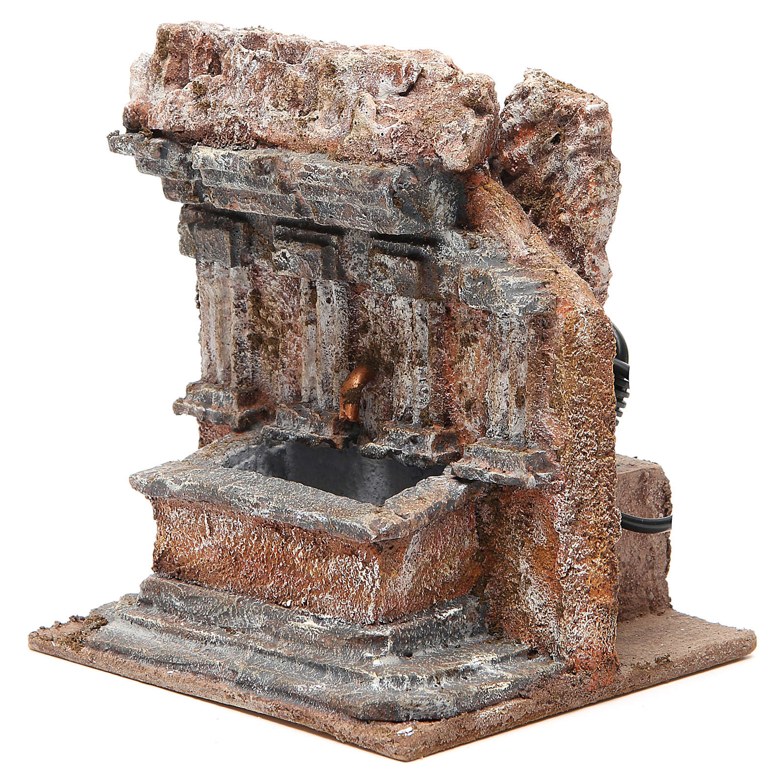 Fontaine crèche dans un rocher 18x16x16 cm 4