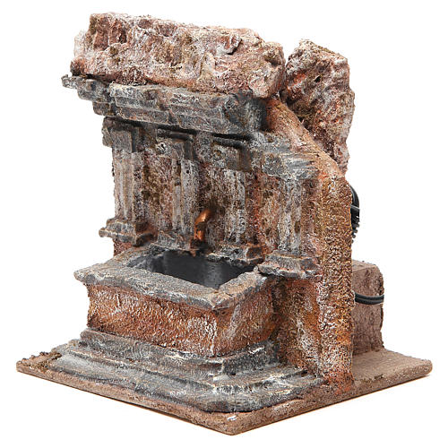 Fontaine crèche dans un rocher 18x16x16 cm 2