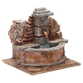 Fontaine crèche électrique dans un rocher 18x16x16 cm s3