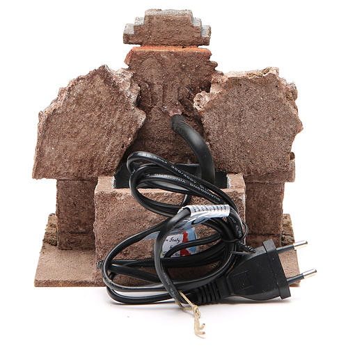 Fontaine crèche électrique dans un rocher 18x16x16 cm 4