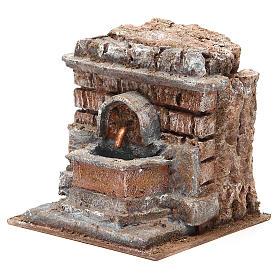 Electric Fountain nativity with bricks 18x16x16cm s2