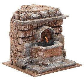 Electric Fountain nativity with bricks 18x16x16cm s3