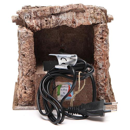 Electric Fountain nativity with bricks 18x16x16cm 4