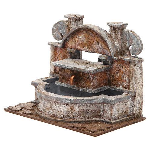 Fontaine crèche rustique avec grande bassine 20x25x15 cm 2