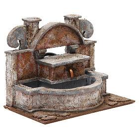 Fontana presepe rustica con grande vasca 20x25x15 cm s3