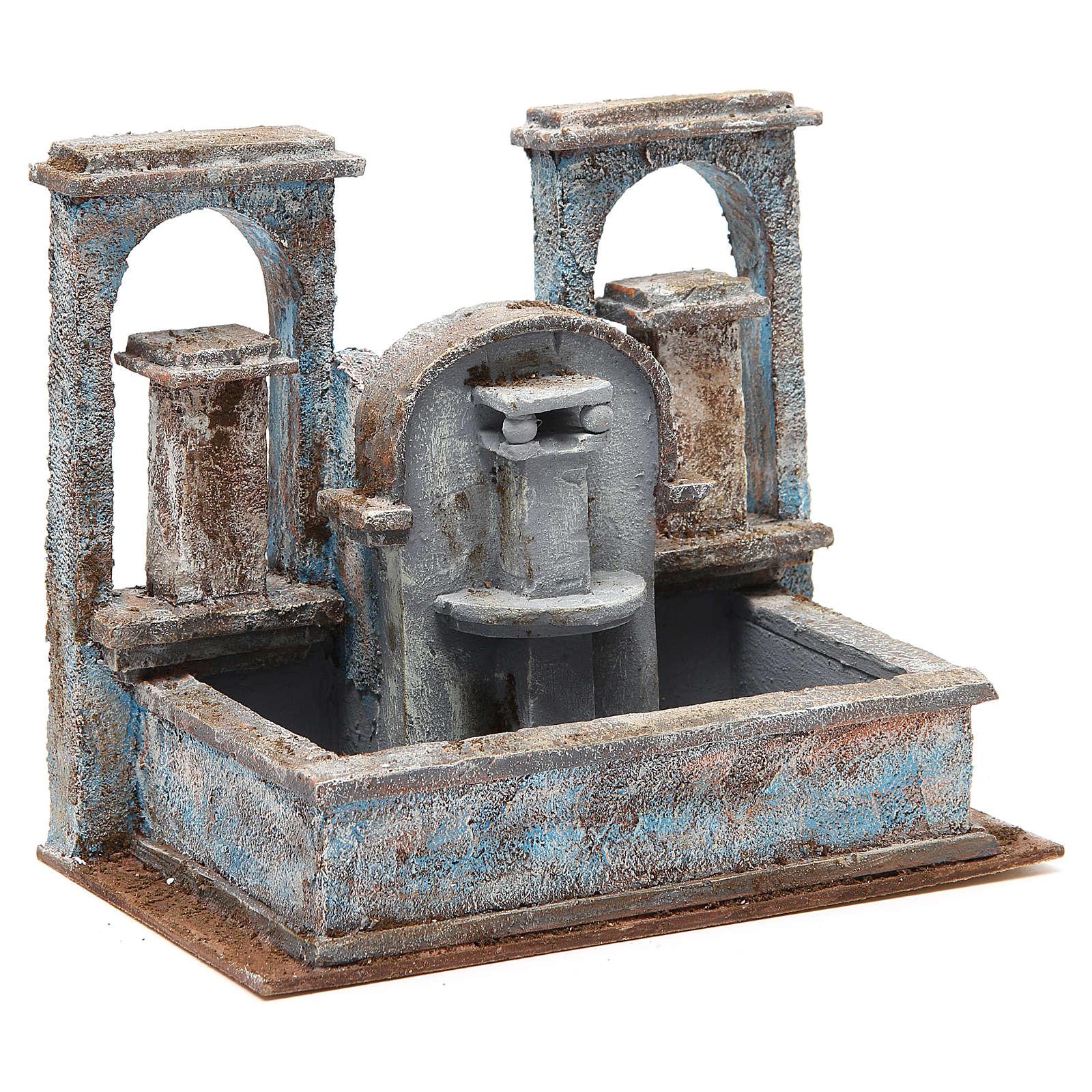 Fontaine crèche effet chutes d'eau 20x25x15 cm 4