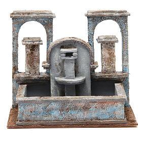 Fontaine crèche effet chutes d'eau 20x25x15 cm s1
