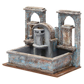 Fontaine crèche effet chutes d'eau 20x25x15 cm s2