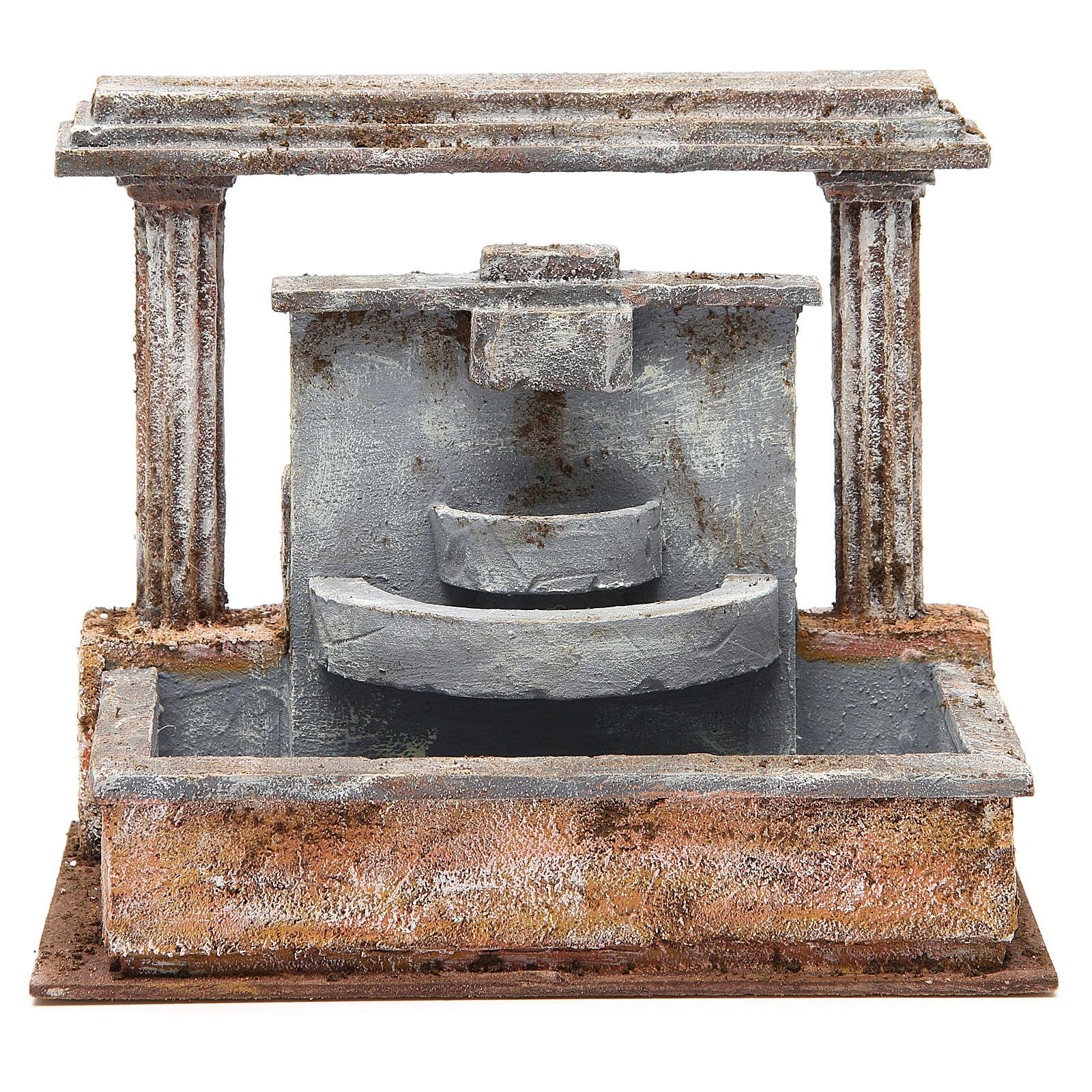 Fontaine crèche 2 colonnes effet chutes d'eau 20x25x15 cm 4