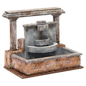 Fontaine crèche 2 colonnes effet chutes d'eau 20x25x15 cm s3