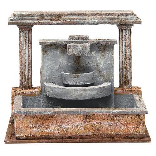 Fontaine crèche 2 colonnes effet chutes d'eau 20x25x15 cm 1
