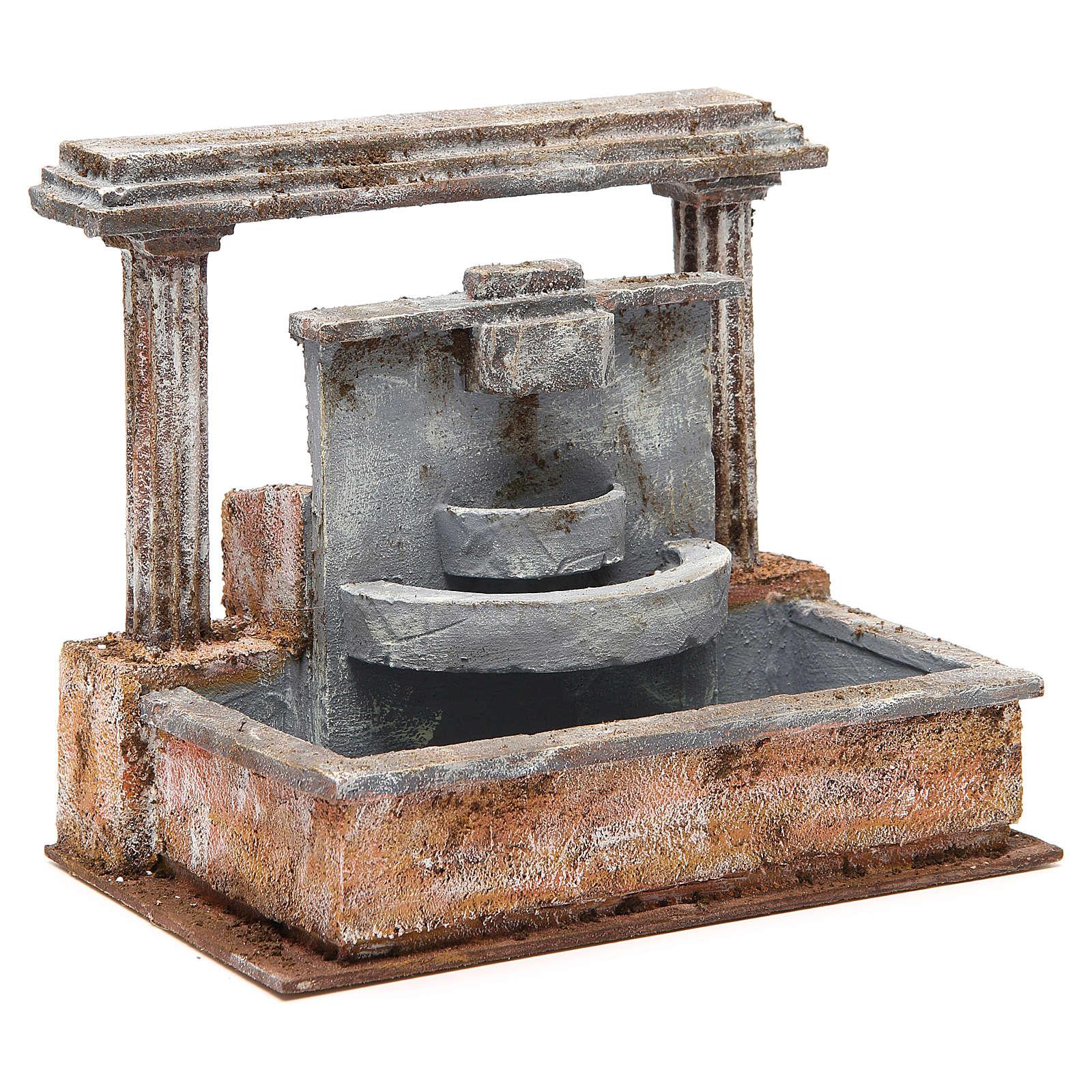Fontana presepe 2 colonne effetto cascata 20x25x15 cm 4