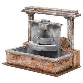 Fontana presepe 2 colonne effetto cascata 20x25x15 cm s2