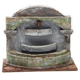 Fontaine crèche avec effet chutes d'eau 3 bassines 20x25x15 cm s1