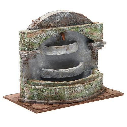Fontaine crèche avec effet chutes d'eau 3 bassines 20x25x15 cm 3