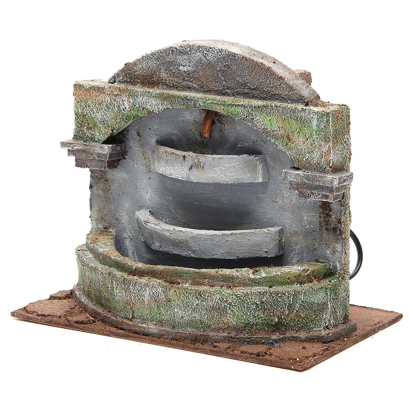 Fontana presepe con effetto cascata 3 vasche 20x25x15 cm 4