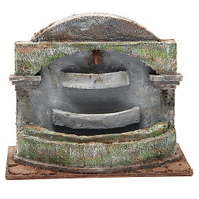 Fountain nativity with waterfall effect, 3 basins 20x25x15cm s1