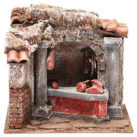 Cured meats and meats shop for nativity 10cm s1