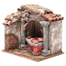 Cured meats and meats shop for nativity 10cm s2
