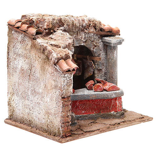 Tienda carnes y embutidos para belén cm 10 3