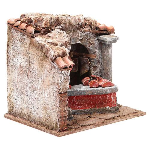Magasin viande et charcuterie pour crèche 10 cm 3