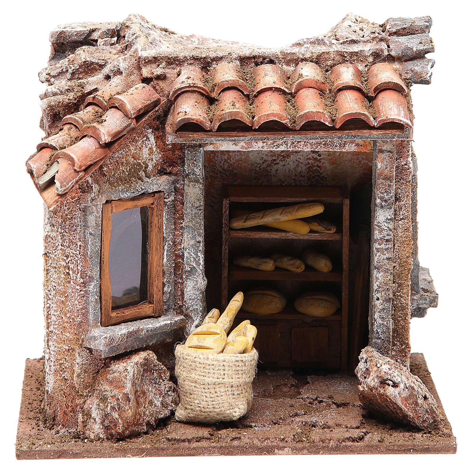 Baker shop for nativity 10cm 4
