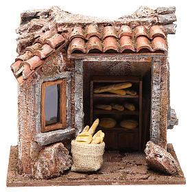 Settings, houses, workshops, wells: Baker shop for nativity 10cm