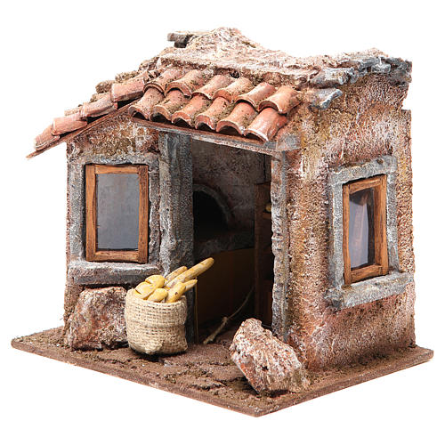 Baker shop for nativity 10cm 2