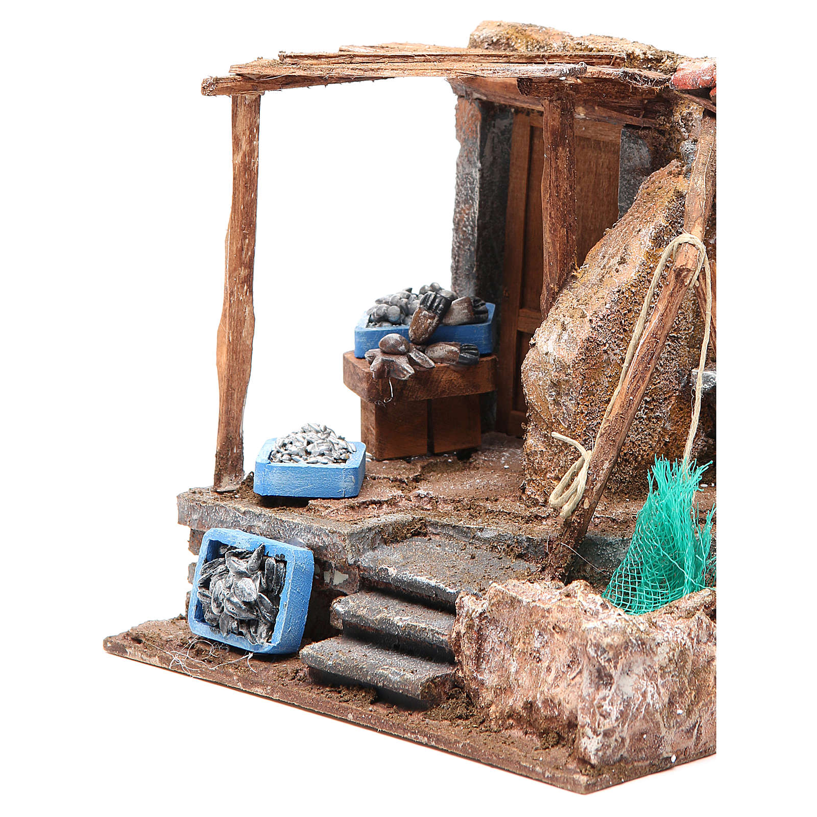 Fish shop for nativity 10cm 4