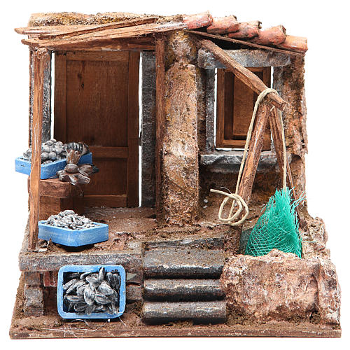 Fish shop for nativity 10cm 1