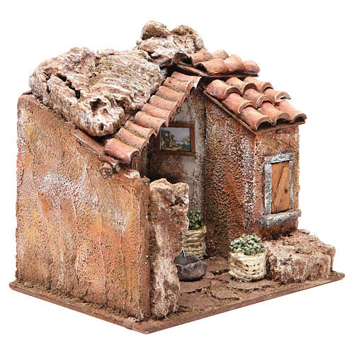Olive oil Mill for nativity 10cm 3