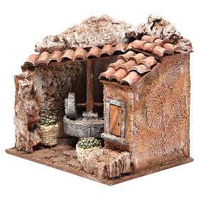 Moulin à huile décor pour crèche 10 cm s2