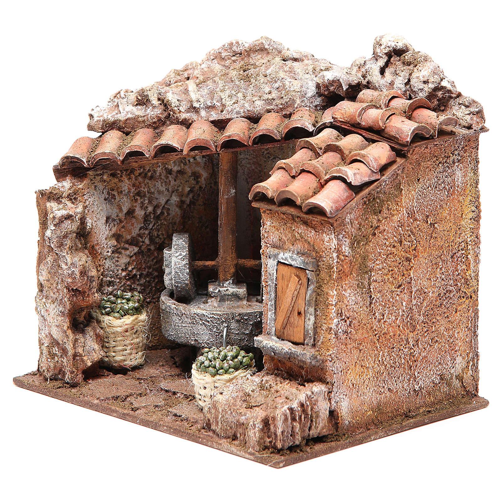 Olive oil Mill for nativity 10cm 4