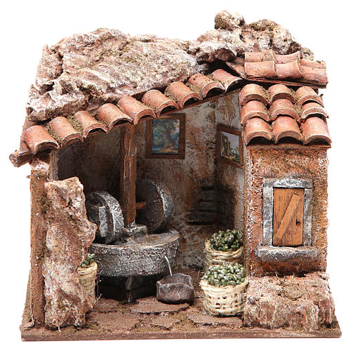 Olive oil Mill for nativity 10cm 1