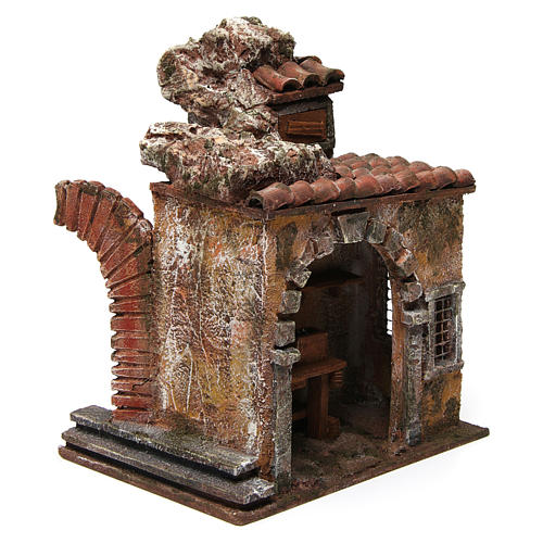 Blacksmith shop for nativity 10cm 3