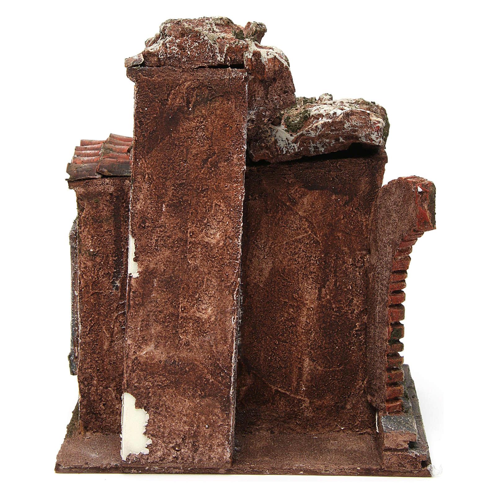 Loja do ferreiro ambientação presépio com figuras altura média 10 cm 4