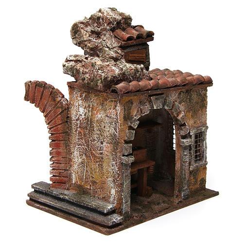 Loja do ferreiro ambientação presépio com figuras altura média 10 cm 3