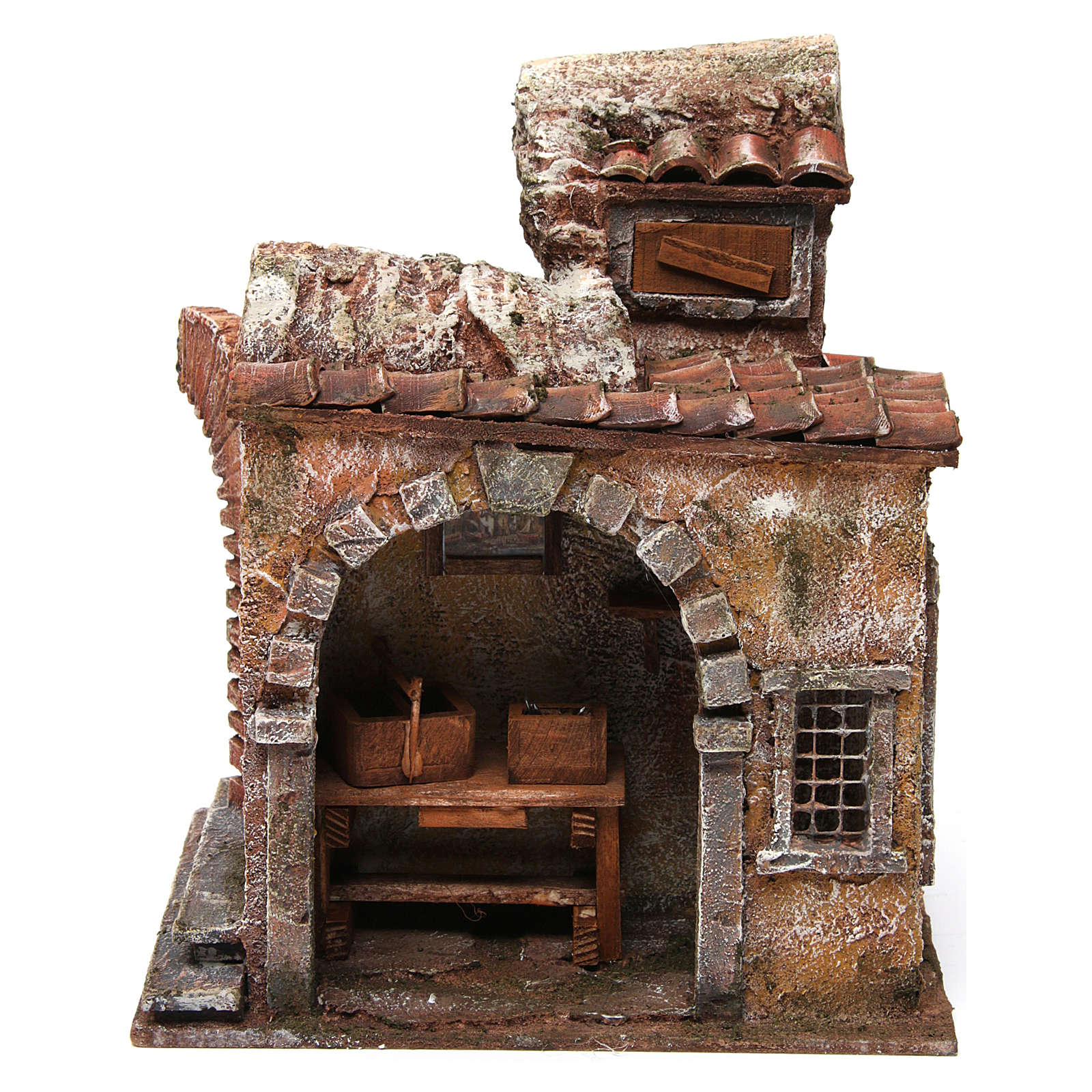 Blacksmith shop for nativity 10cm 4