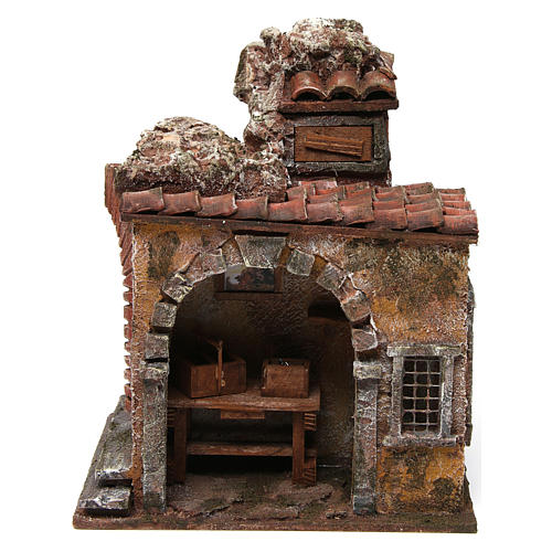 Blacksmith shop for nativity 10cm 1