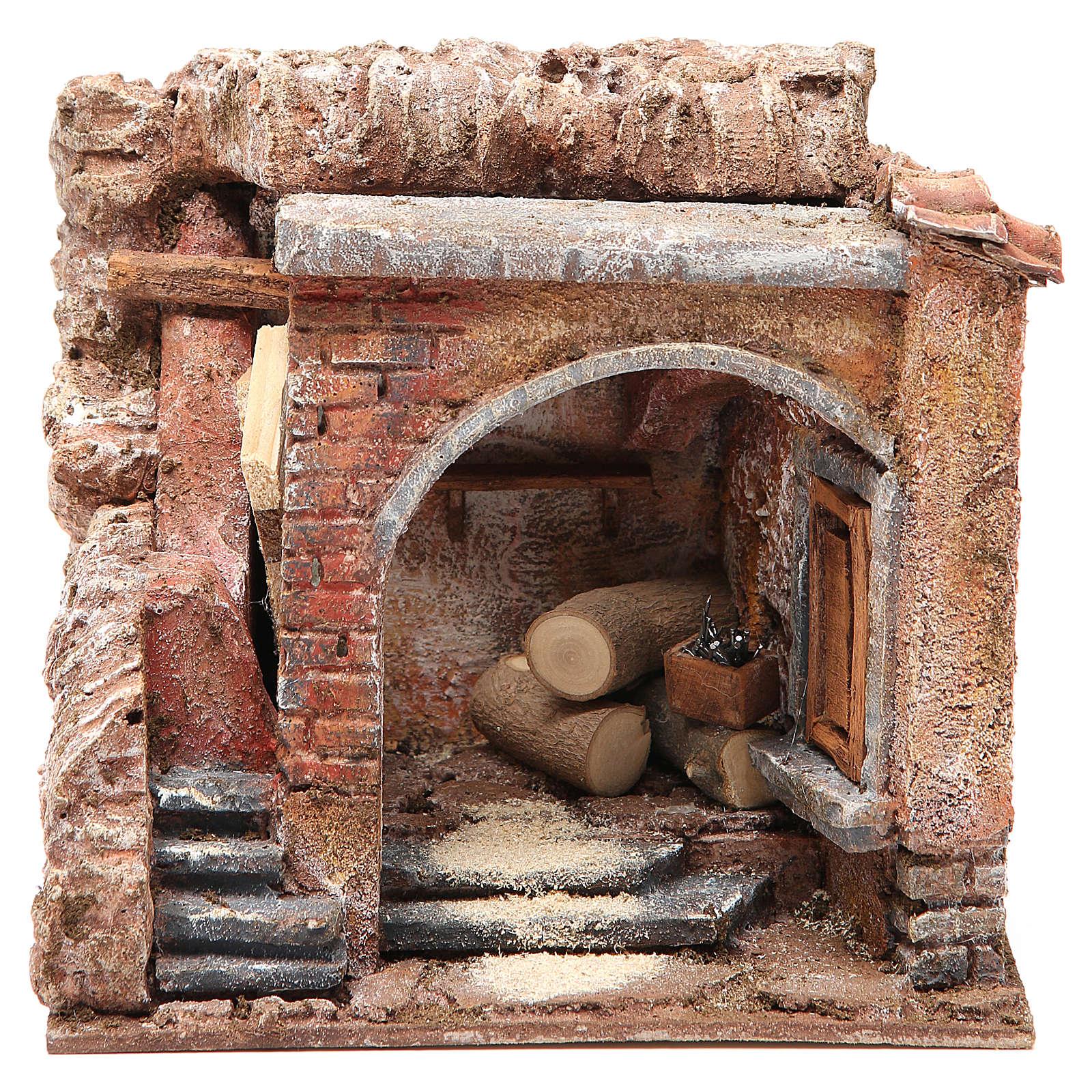 Joiner's workshop for nativity 10cm 4