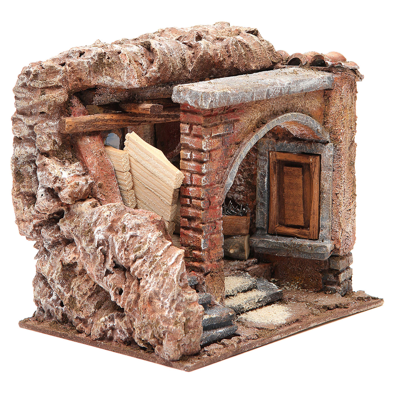 Joiner's workshop for nativity 10cm 4