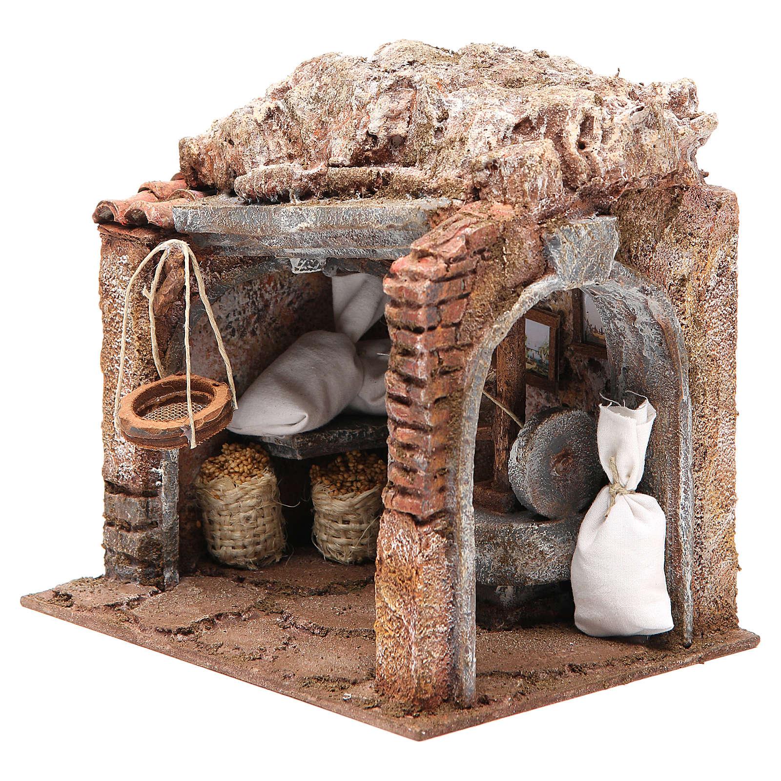 Atelier du meunier pour crèche 10 cm 4