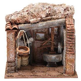 Atelier du meunier pour crèche 10 cm s1