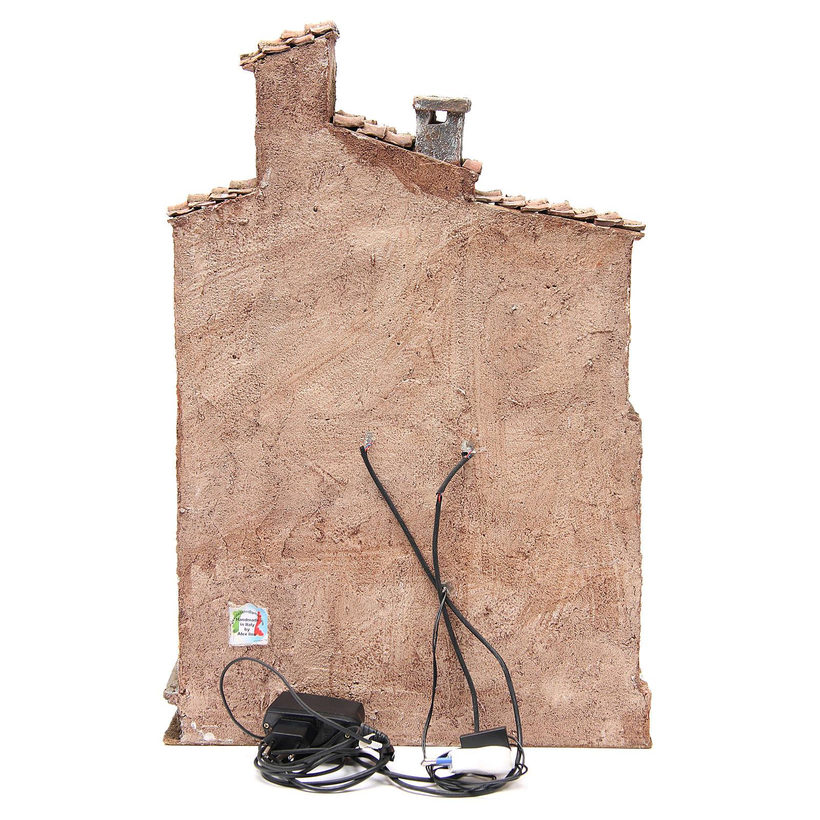 Bourgade avec cabane crèche avec accessoires 40x30x20 cm 4