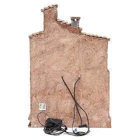 Borgo con capanna presepe con accessori 40x30x20 cm s4