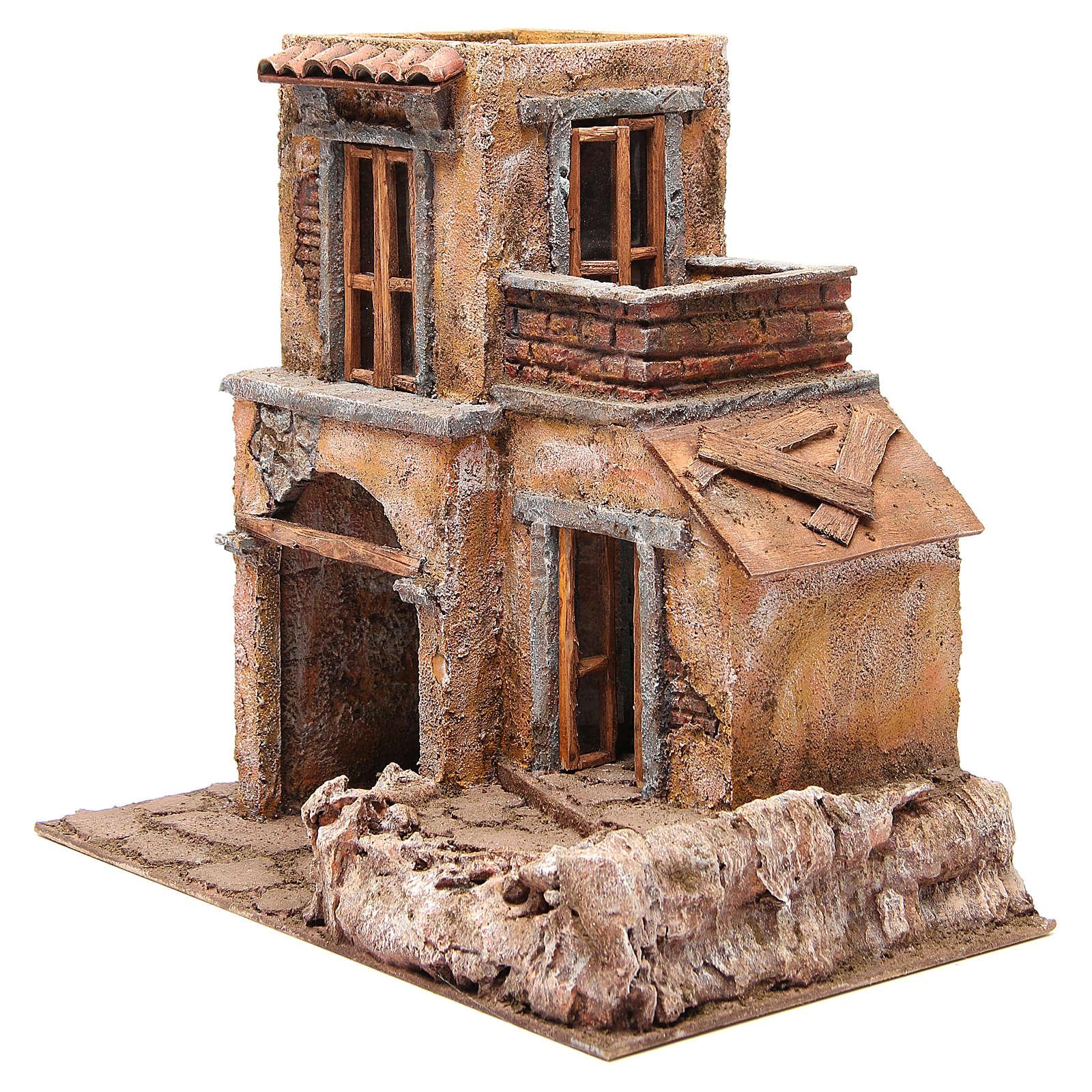 Casa con cabaña para belén 35x38x25 cm 4