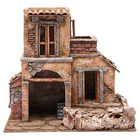 Casa con cabaña para belén 35x38x25 cm s1