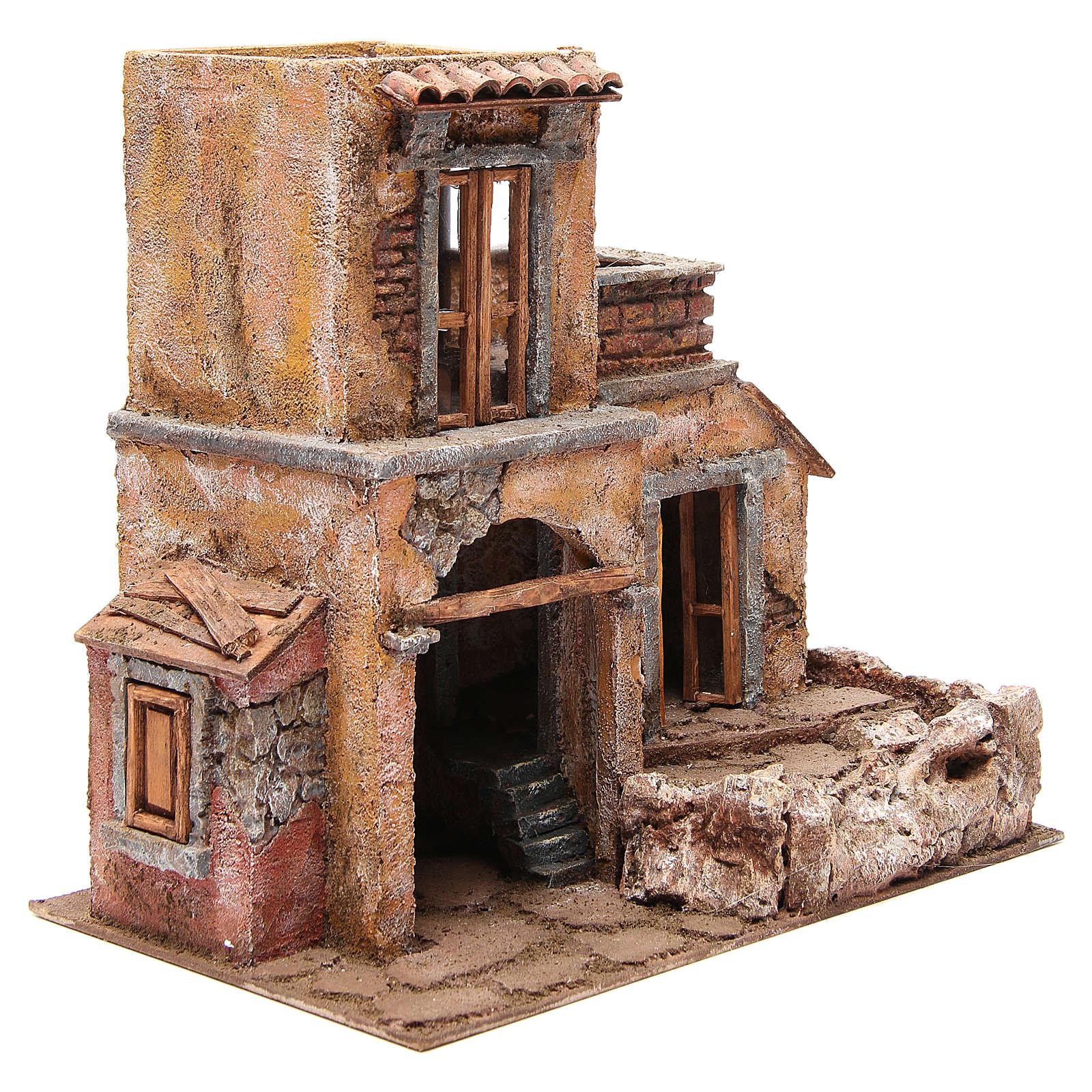 Maison avec cabane crèche 35x38x25 cm 4