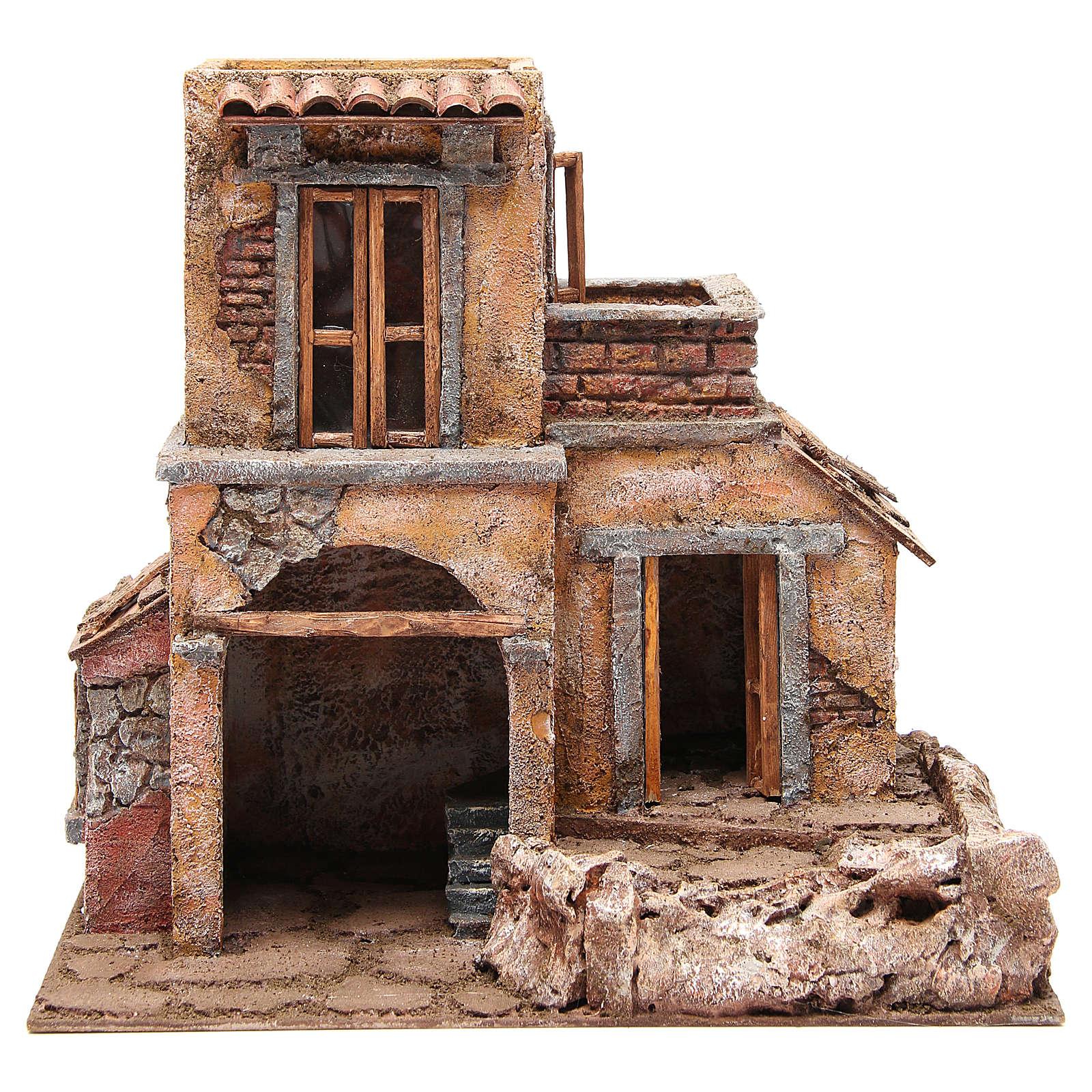 Casa con capanna presepe 35x38x25 cm 4