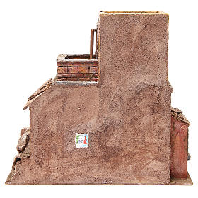 Casa con capanna presepe 35x38x25 cm s4